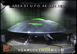 AREA 51 UFO AE-341.15B 1/72 Scale Model Kit by Pegasus Hobbies
